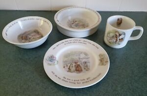 Wedgwood Vintage Beatrix Potter Mrs Tiggy - Winkle 4 Piece Nursery Set