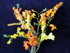 "Vintage Millinery Flower Collection 3/4 -1 1/2"" Yellow Orange For Hat H1143"