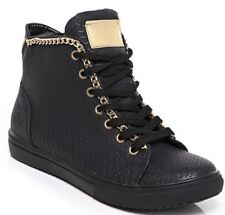 Women Snake skin Black HiTop Wedge Trainer Sneaker Pump Sport Ankle Boot Size