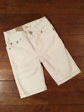Nwt Girls Levis Bermuda Shorts Size 4 Reg. White Denim Adjustable Waist Ret. $36