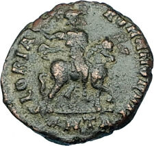 HONORIUS on Horse 392AD Original Genuine Authentic Ancient Roman Coin i65845