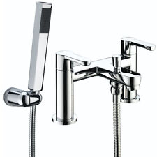 Bristan Nero Bath Shower Mixer Tap Modern Chrome And Wall Mounted Shower Head