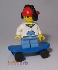 Lego 1x Minifig Utensil Skate Skateboard Wheel Wheel Green Lime File 42511 New