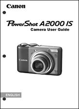 Canon Powershot A2000 IS Digital Camera User Guide Instruction  Manual