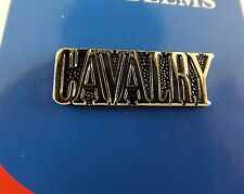 BRAND NEW Lapel Pin U.S. ARMY CAVALRY Gold Tone Letters 1""
