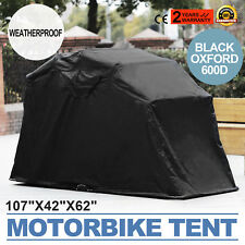 Large Motorcycle Cover /Scooter Shelter Motorbike Tent Outdoor Cycle Garage
