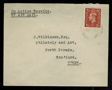 1940s England Royal Air Force Raf in Iraq Cover to Bradford
