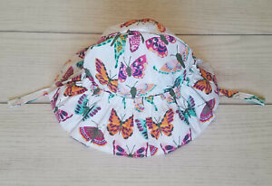 "NWT Gymboree Baby Girls ""Woodland Walk"" Butterfly Sun Hat - 0-3M - 100% COTTON"