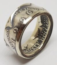 Coin Ring Made From a REAL SILVER 65-69 JFK Half Dollar Coin Size 10