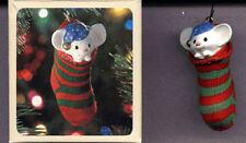 HALLMARK 1981 Christmas STOCKING MOUSE Ornament w/ BOX