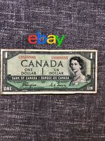 $1 dollar  Bank Of Canada  1954 devil's face EA8868886 Coyne-Towers   Repeater