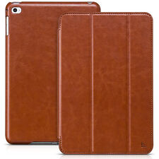 HOCO IPAD MINI 1 2 3 BUSINESS LITCHI REAL LEATHER CASE COVER WITH STAND BROWN