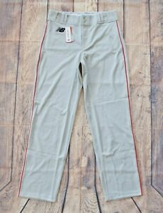 New Balance Men's Gray/Red 2000 Baseball Piped Athletic Pant - L