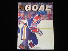 1983 Edmonton Oilers at New York Islanders Wayne Gretzy NHL Goal Magazine EX+