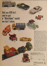 1966 Matchbox Diecast Vehicles Cars~Trucks~Greyhound Bus~Mustang Promo Toy AD