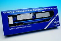 Tomix 2770 Private Owner Tilt-floor Wagon KUMU 80000(with lorries)(N Scale) New!