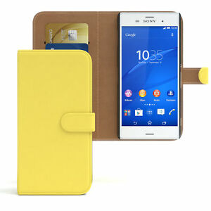 Case for Sony Xperia Z3 Flip Case cover Cover Yellow