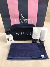 Jack Wills Homme Gents Voyage Gym lavage sac de serviette, Body Wash & Spray-Bnwt