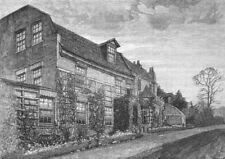CROYDON. Purley House 1888 old antique vintage print picture