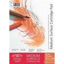 Winsor & Newton Medium Surface Drawing Spiral Sketch Pads - 150gsm/70lb