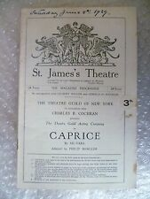 St James Theatre Programme CAPRICE- Lily Cahill,Sil Vara, Philip Moeller