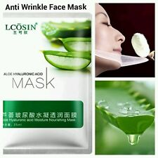 Pure Hyaluronic Acid Alo Collegen peeling Anti Ageing Wrinkle Silk Face Mask