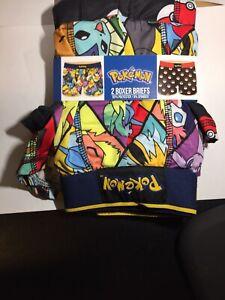 NEW Men's Pokemon Characters Balls Boxer Briefs Underwear 2pk LARGE Pikachu