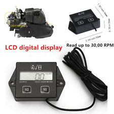 LCD Digital RPM Tach / Hour Meter Gauges Powerful For 2 Stroke & 4 stroke Engine