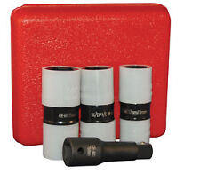 "4 Pc. 1/2"" Drive Protective Wheel Nut Flip Impact Socket Set ATD Tools"