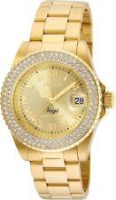 Invicta 24614 женский золотой циферблат желтый стальной кристалл водолазные часы