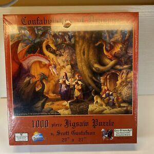 jigsaw puzzle 1000 pc Scott Gustafson Confabulation of Dragons NEW UNOPENED
