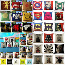 18'' Super Hero Avengers Star Wars Game of Thrones Pillow Case Cushion Cover