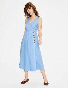 BODEN  Damen Midi kleid - Arwen Midi Dress -Blau uk14R 40 42