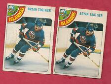 2 X 1978-79 OPC # 10 ISLANDERS BRYAN TROTTIER  CARD