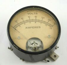Vintage 1940'S Jewell Electrical Volts, Amperes Gauge Great Display Piece