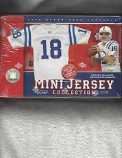 2005 Upper Deck Football Mini Jersey Box Tom Brady Peyton & Eli Manning plus mor
