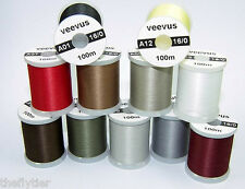 VEEVUS 16/0 THREAD --  Best Midge Thread Fly Tying by spool or set / lot