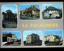 LA PACAUDIERE (42) ECOLES ,BUREAU DE POSTE, EGLISE ,COMMERCES MAISON DE RETRAITE