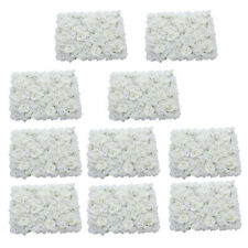10pcs Romantic Artificial Flower Wall Panel Wedding Venue Floral Decor White