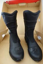 Axo q4 wp waterproof rain Black Boot Boots touring moto Boots Size 7 NWT