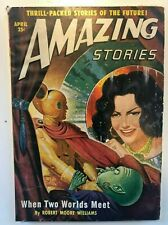 AMAZING STORIES PULP APRIL 1950 cover by  Robert Gibson Jones GOLDEN AGE SCI FI