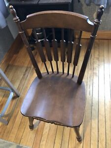 Tell City Cattail Cat Tail Dining SIDE Chair Maple Wood #49 Rumford 9034