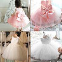 Flower Girl Princess Dress Kids Party Wedding Birthday Pageant Formal Tutu Dress