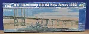 Trumpeter 05702 WW2 Battleship BB-62 New Jersey 1983 1:700 Kit New Sealed