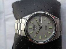 RARE VTG SS MID SIZE 34 MM GRAY DIAL 7009-6001 SEIKO MENS AUTOMATIC WRISTWATCH
