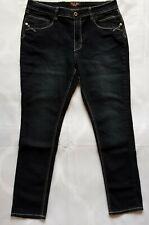 Women's Jeans Angels Blue Denim Jeans Size 14 W 36 x L 31 Big Stitch