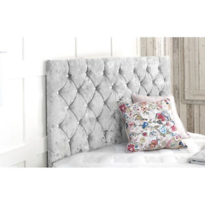 Luxury Crushed Velvet Headboard Divan Bed - Single, Double, King - Free Delivery