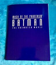 Batman Phantasm Animation Warner Bros. Complete Press Kit 1991 Vintage