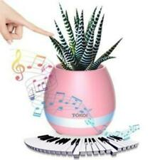 TOKQI Music Flowerpot Wireless Speakers Night Light Breathing LED Musical