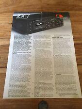 Nakamichi ZX-7 original Brochure